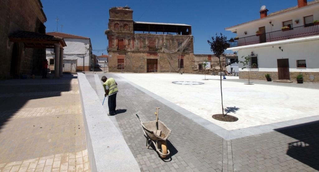 Plaza Conde de Montijo, en El Gordo (Cáceres)