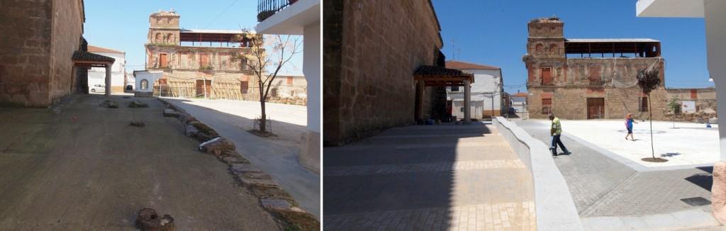 Antes y después, en El Gordo (Cáceres)